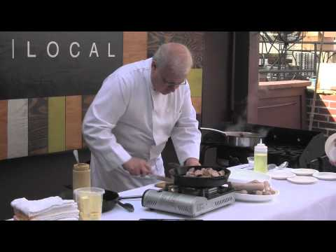 Morningside Farmers Market - Chef Demo with Aria restaurant - 5-25-2013
