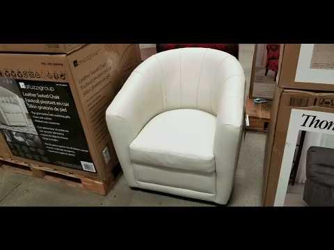 Costco! Natuzzi Group Cora Leather Swivel Chair! $369!!!