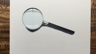 Drawing of magnifying glass, enjoy the video!