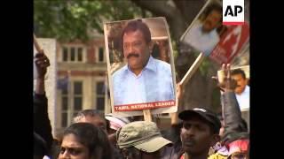 WRAP Anti-UK protest in SLanka ADDS pro-Tamil rally in UK, Belgium