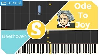 How to play ODE TO JOY by Beethoven | Smart Kids Piano | Kids Piano Tutorials