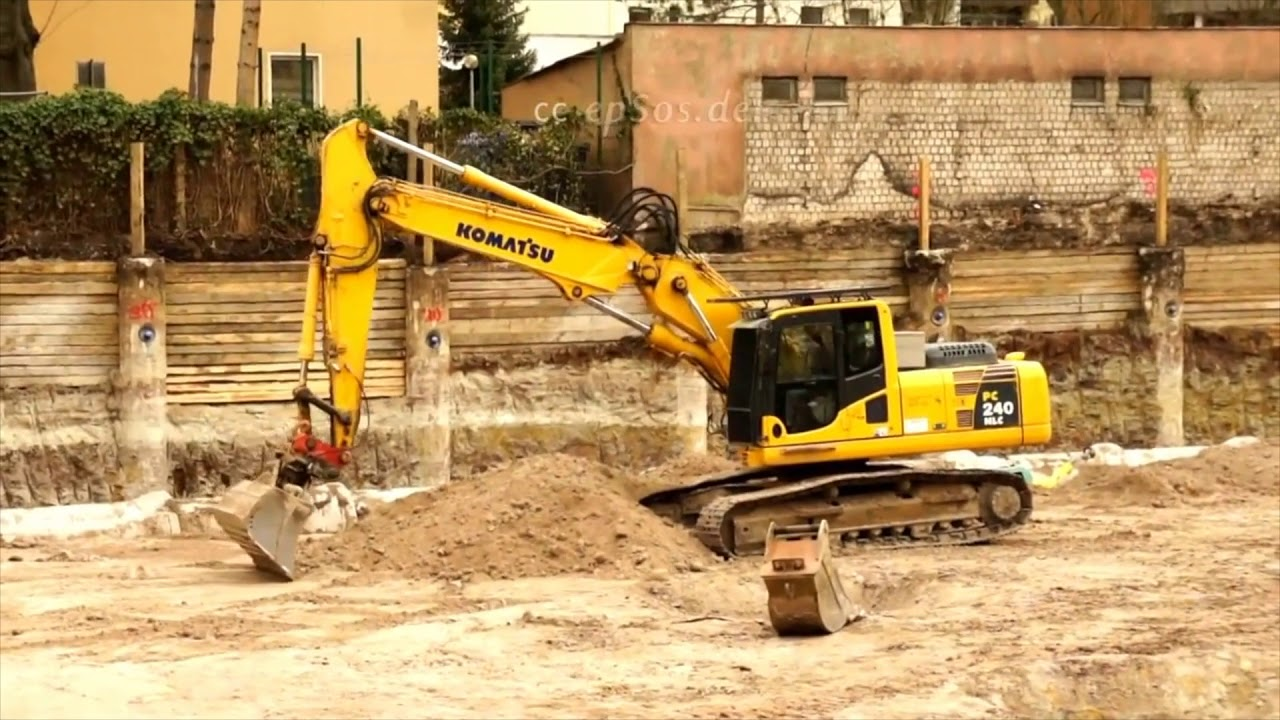 Heavy Construction Machines in Action, Komatsu PC240LC - ConEquip Parts