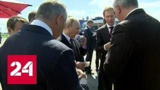 Путин угостил всех мороженым на тысячу, Чемезов - на пять