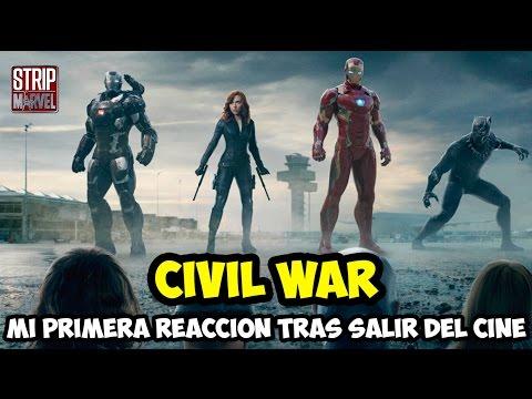 Mi reacción sin Spoilers justo después de ver Capitán América Civil War | Strip Marvel
