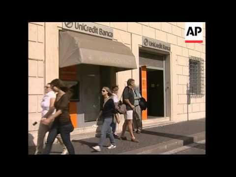 Italy's Unicredit Bank suspends trading several times as shares drop