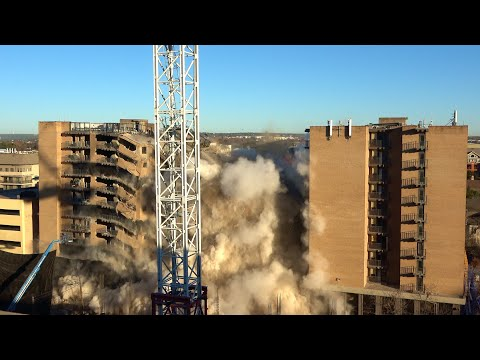 university-towers-#1-and-#3-at-university-of-texas---controlled-demolition,-inc.