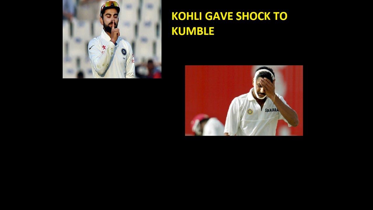 Kohi Gave shock to Kumble