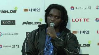 "Ewerton Teixeira's Post-Fight interview of ""FieLDS K-1 WORLD GP 200..."