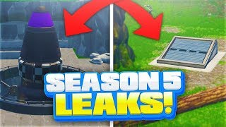 SEASON 5 LEAKS AND SECRET SPOTS! - FORTNITE BATTLE ROYALE