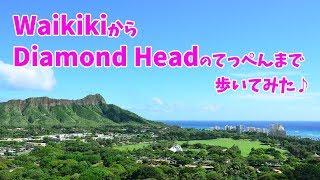 ハワイ旅行 [ オアフ島 ] ダイヤモンドヘッドまで歩いてみた ~ Diamond Head Trail ~ ワイキキに飽きたら行ってみて♪