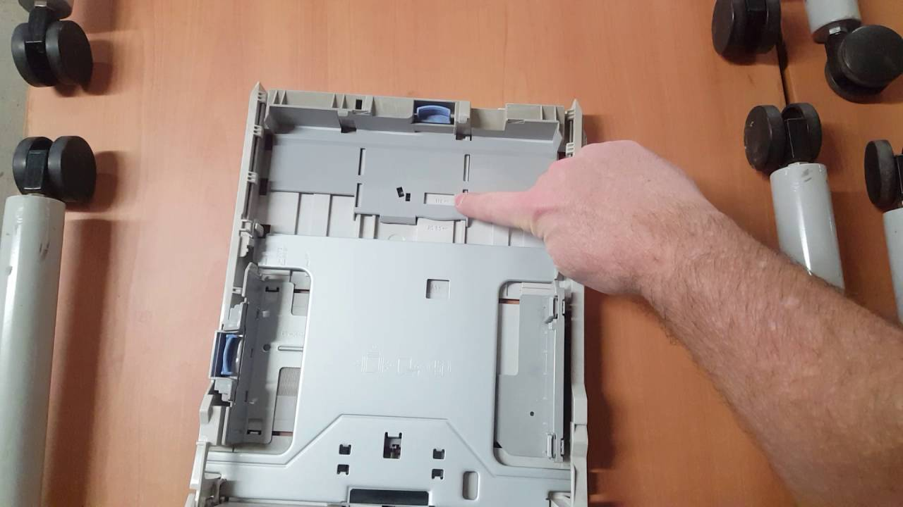 adjusting the paper tray 1320n youtube