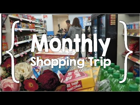 Shop with Me ║ Large Family Monthly Grocery Shopping Haul│Feb. 2017 │$493
