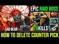 Holyshit Cancer is Real [Huskar] HOW TO DESTROY COUNTER PICK Raid Boss 26KIlls By Wisper | Dota 2