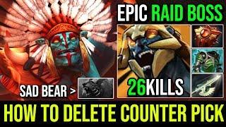 Holyshit Cancer is Real [Huskar] HOW TO DESTROY COUNTER PICK Raid Boss 26KIlls By Wisper   Dota 2