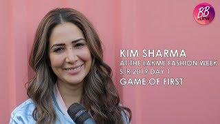 Kim Sharma At The Lakme Fashion Week S/R 2019