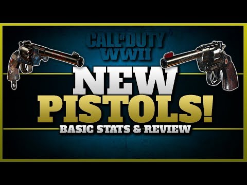 2 New Pistols in CoD WW2!   Enfield No. 2 & Reichsrevolver Basic Stats & Gameplay!