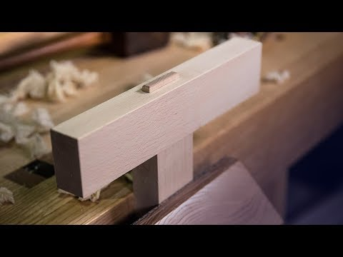 How to cut a THROUGH MORTICE AND TENON by HAND