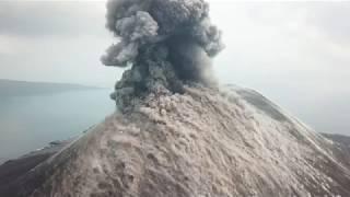Spectacular Drone Footage Explosive Eruptions At Anak Krakatau Volcano thumbnail