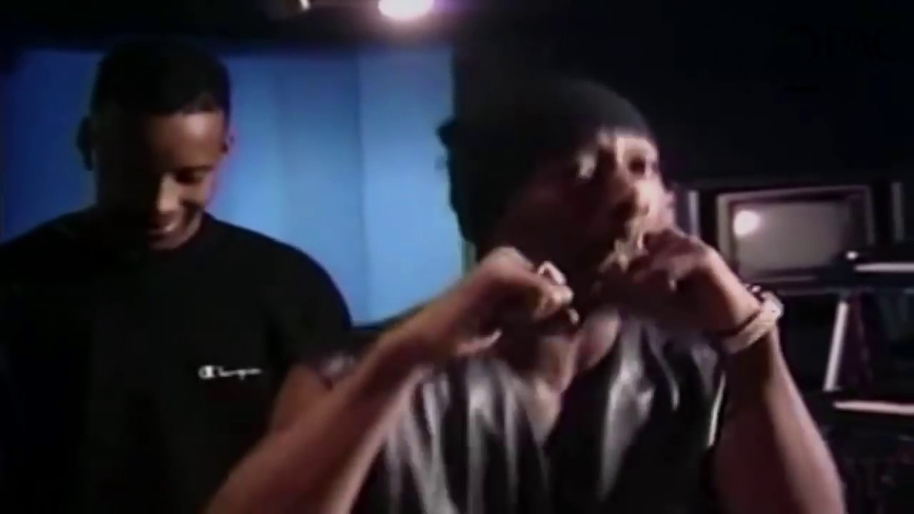 2pac Freestyle in  Studio