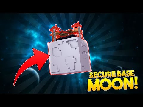 MOST SECURE BASE ON THE MOON | Minecraft Base Challenge | Little Kelly Plays