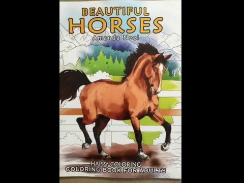 Beautiful Horses - Coloring Book for Adults flip through - YouTube