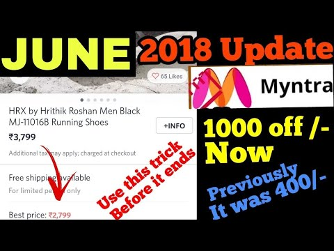 Myntra new year offer 2018 Get 400 off on many brands