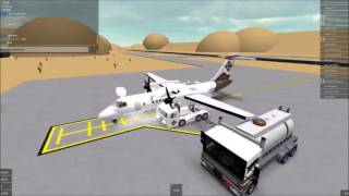 [Roblox Flight] Kenya Airways Double Bombardier Dash 8 Q400 | 2 Airplanes And Landing at Safari |