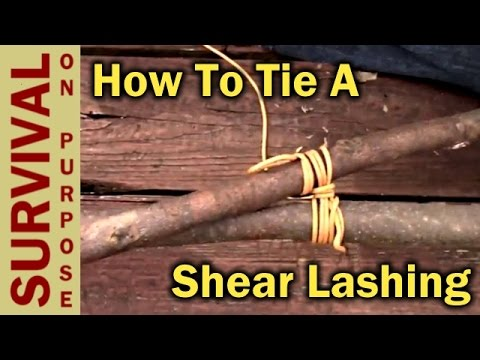 hqdefault how to tie a shear lashing boy scout requirements youtube