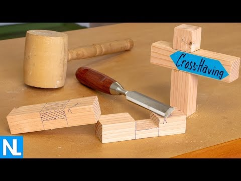 Making a Cross-Having Joint // woodworking primary abilities