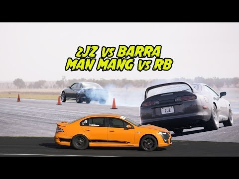 2JZ vs RB vs BARRA - Which is the best 6cylinder 2WD ? Drag Battle 2018