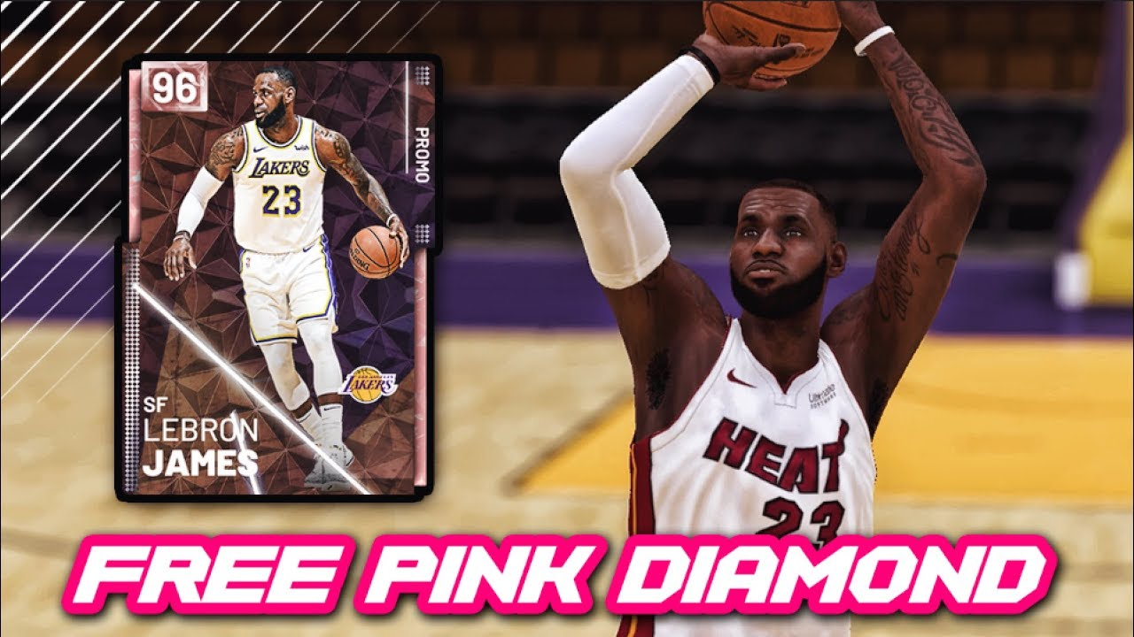 a96309e7a123 NBA 2K19 FREE PINK DIAMOND LEBRON JAMES GAMEPLAY!!