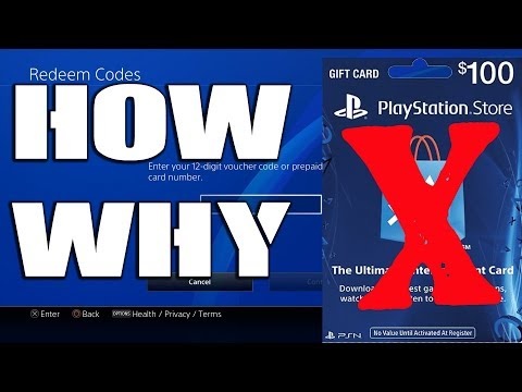 How To Fix Unable To Redeem Code PS4 - PSN Gift Card Not Working