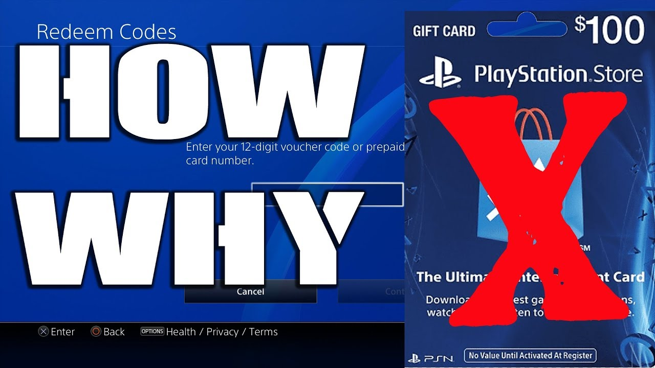 How To Fix Unable To Redeem Code Ps4 Psn Gift Card Not Working