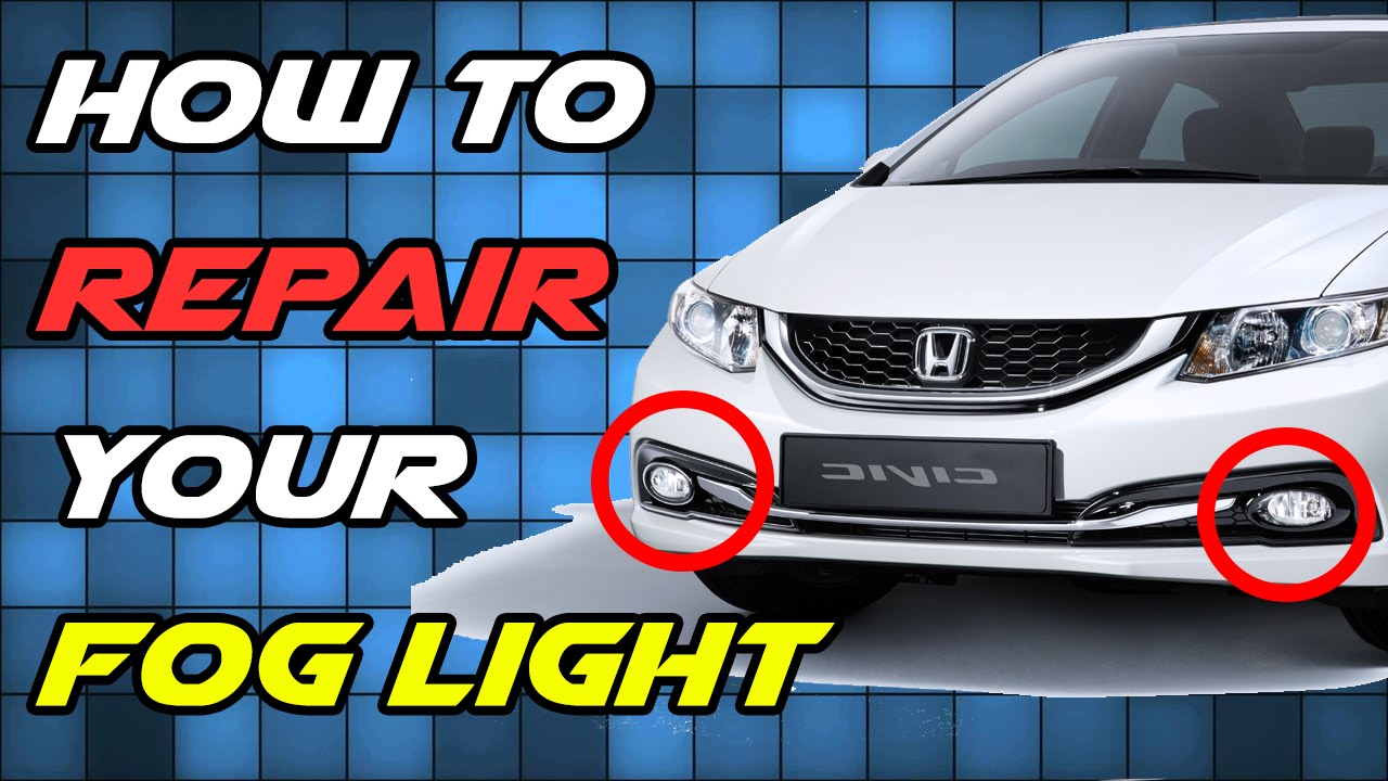 how to repair broken fog light glass lens replacement diy [ 1280 x 720 Pixel ]