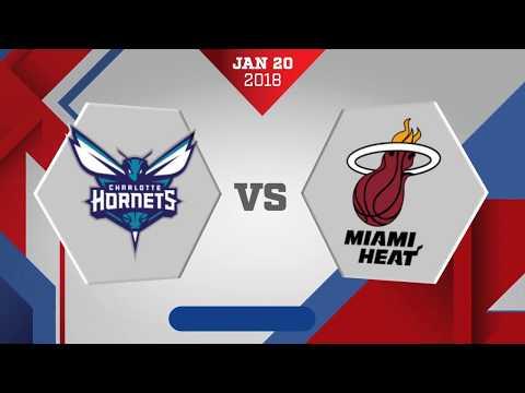 Miami Heat vs. Charlotte Hornets - January 20, 108