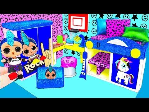 МИНИ дом Семейки Панк Бой Куклы ЛОЛ Сюрприз! Мультик LOL Surprise toy DIY Miniature Dollhouse