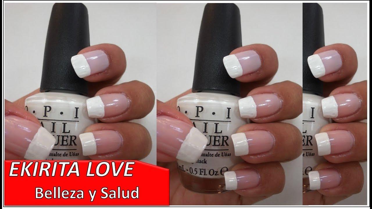 manicure francesa en tono rosa OPI, Ekirita Love - YouTube
