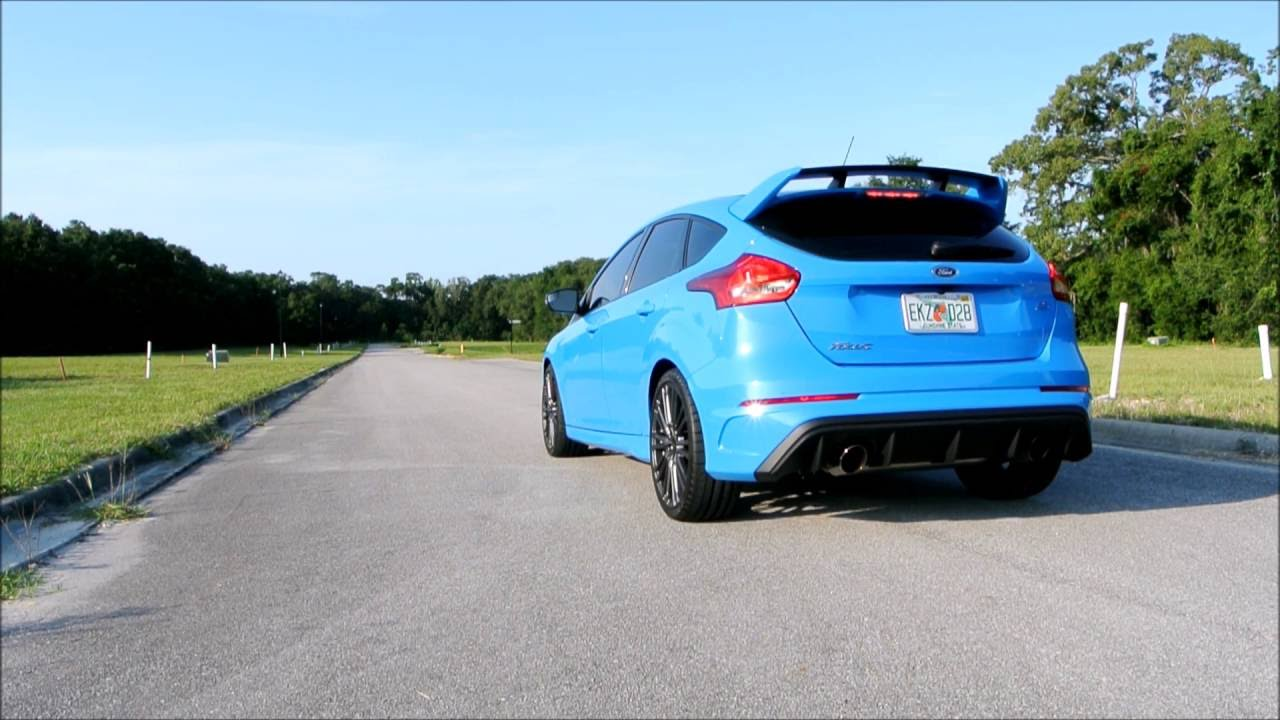 ford focus rs stock exhaust launch control and fly by