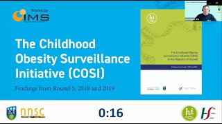 Hse Webinar Launch Of The Childhood Obesity Surveillance Initiative Cosi 14th October 2020 Youtube