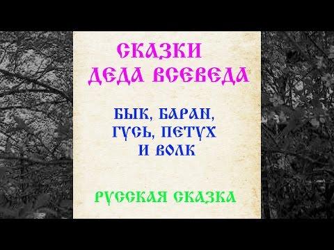 СКАЗКА 022 БЫК БАРАН ГУСЬ ПЕТУХ И ВОЛК