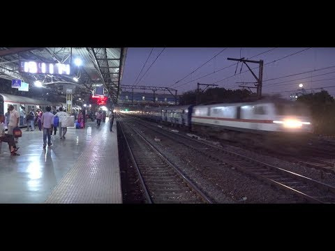 Thumbnail: Super Moonlight Capture Of Fascinating Superfast Pushpak Express in 4K !!!!