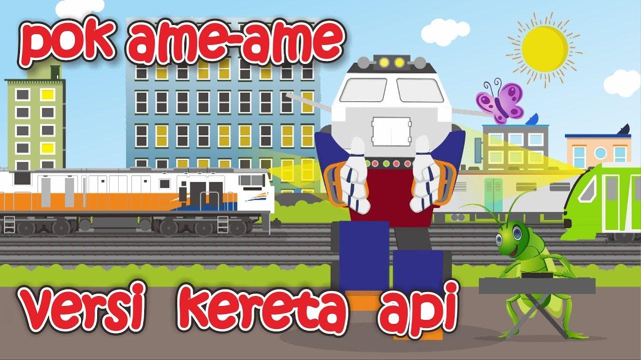Gambar Kereta Versi Kartun Pok Ame Ame Versi Kereta Api Youtube
