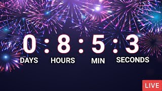 NEW YEARS 2021 LIVE COUNTDOWN, LESS THAN 365 DAYS - LIVE 24/7