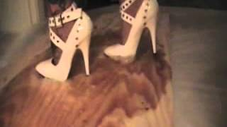 White Heels Stuck In Glue [Better Quality]