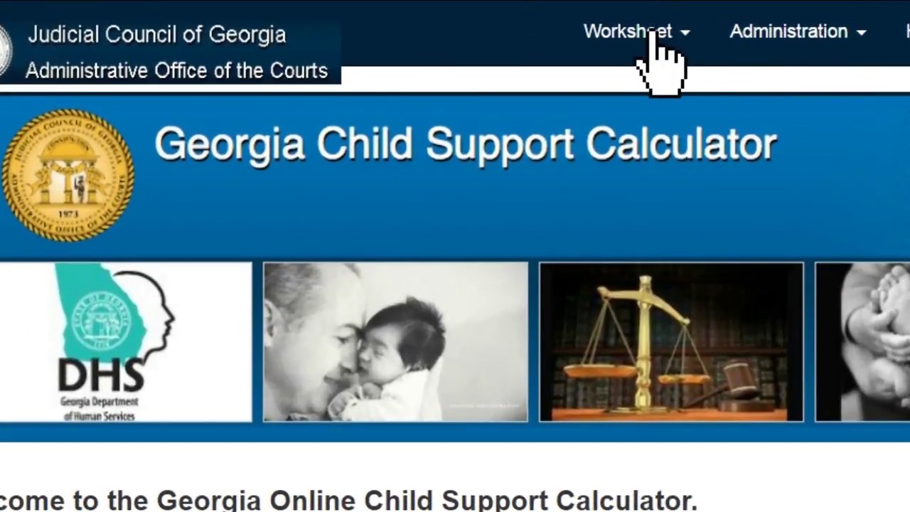 Create A Worksheet With The Georgia Online Child Support Calculator