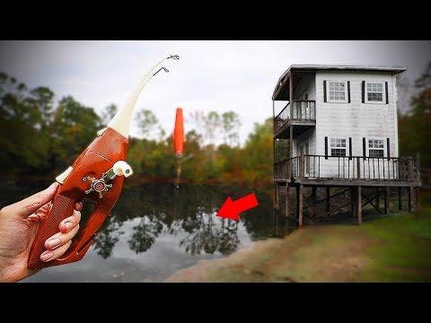 Smallest POCKET FISHERMAN ROD Fishing Challenge!