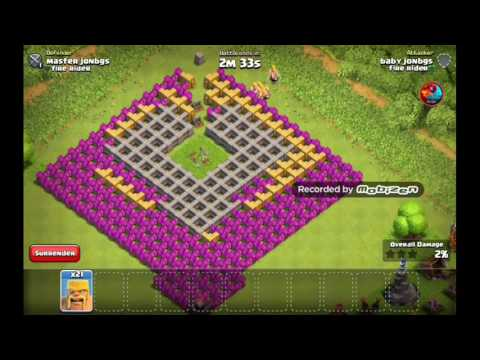Clash of clans (does 10 barb destroy 1 level 7 double cannon)