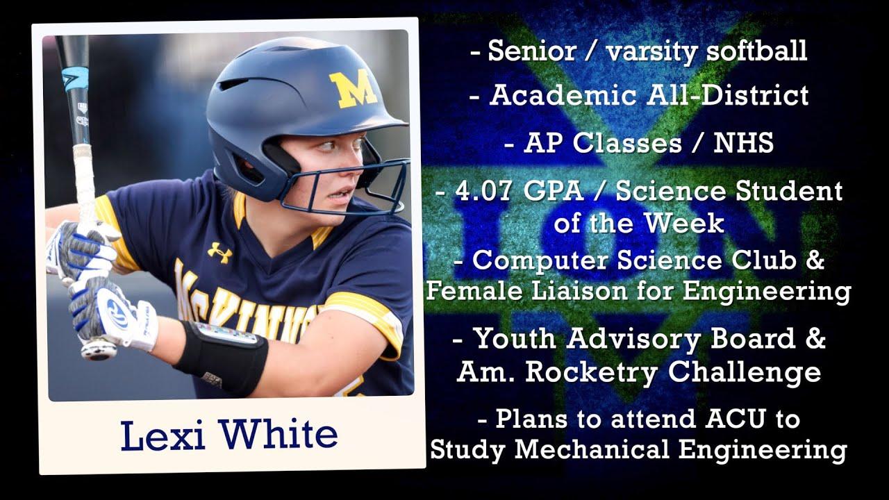 Dennis Baker State Farm Scholar Athlete of the Week - Lexi White