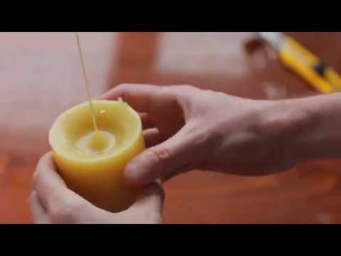 Как сделать свечу своими руками =)