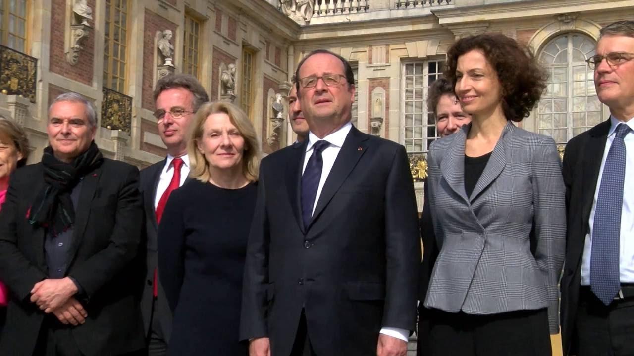 Inauguration du pavillon Dufour au château de Versailles par le Président de la République
